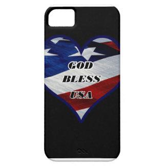 Dieu bénissent les Etats-Unis Coque Barely There iPhone 5