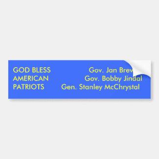 Dieu bénissent les patriotes américains autocollant de voiture