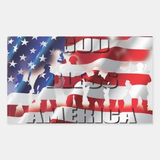 Dieu bénissent les soldats de l'Amérique et le Sticker Rectangulaire