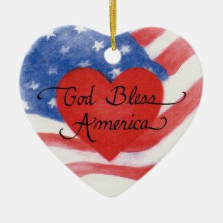 Dieu bénissent l'ornement de coeur de l'Amérique