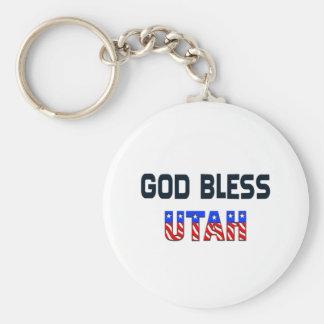Dieu bénissent l'Utah Porte-clés