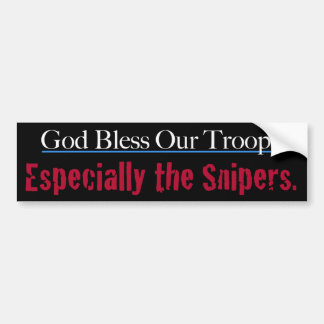 Dieu bénissent nos troupes particulièrement les autocollant de voiture