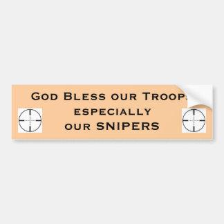 Dieu bénissent nos troupes particulières… autocollant de voiture