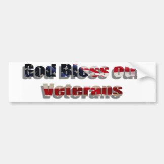 """""""Dieu bénissent nos vétérans """" Autocollant De Voiture"""