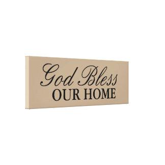 Dieu bénissent notre décor à la maison d'art de toile tendue sur châssis
