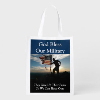 Dieu bénissent notre sac d'épicerie réutilisable