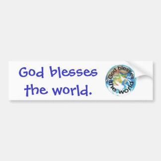 Dieu bénit les adhésifs pour pare-chocs du monde autocollant de voiture