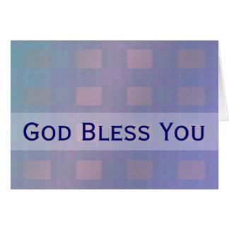 Dieu bleu en pastel vous bénissent cartes de vœux