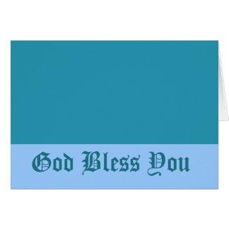 Dieu de bleu de turquoise vous bénissent carte de vœux