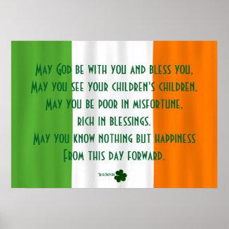 Dieu irlandais inspiré de bénédiction bénissent St