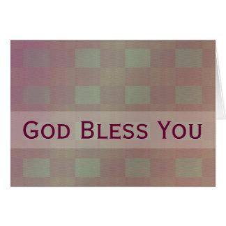 Dieu mauve en pastel vous bénissent carte