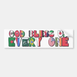 Dieu nous bénissent chacun autocollant de voiture