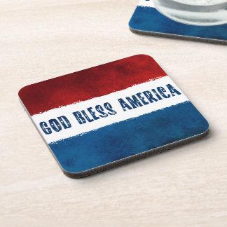 Dieu patriote bénissent des dessous de verre de sous-bocks