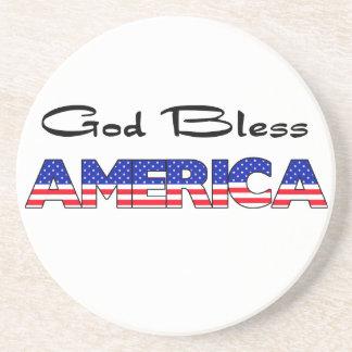Dieu patriote bénissent l'Amérique Dessous De Verre