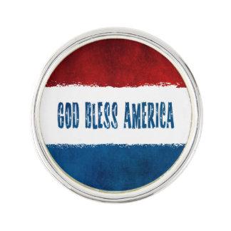Dieu patriote bénissent le Pin de revers de Épinglette
