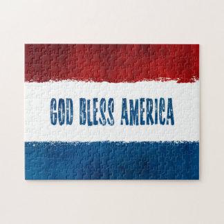 Dieu patriote bénissent le puzzle de l'Amérique