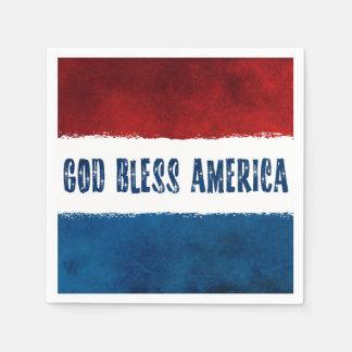 Dieu patriote bénissent les serviettes de papier serviettes jetables
