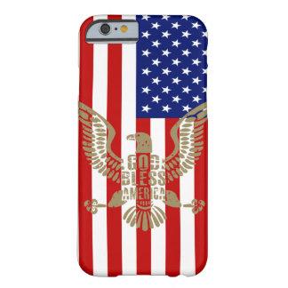 Dieu patriote de drapeau américain bénissent coque barely there iPhone 6