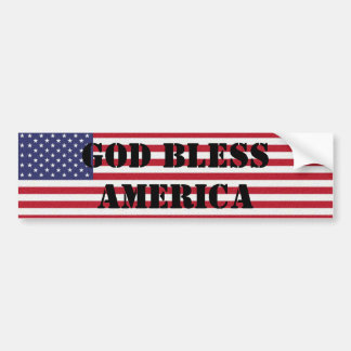 Dieu patriote et puissant bénissent l'Amérique Autocollant De Voiture