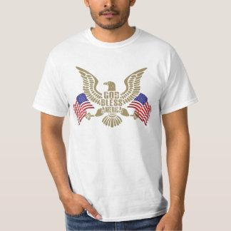Dieu très patriote bénissent l'Amérique Eagle et T-shirt
