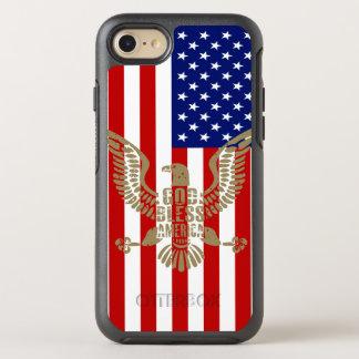Dieu très patriote bénissent le drapeau américain coque otterbox symmetry pour iPhone 7