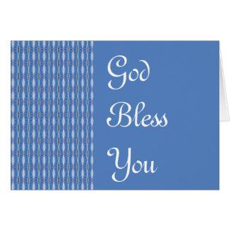 Dieu vous bénissent carte de vœux