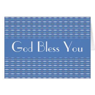 Dieu vous bénissent carte de correspondance
