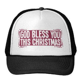 Dieu vous bénissent ce Noël Casquettes De Camionneur