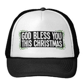 Dieu vous bénissent ce Noël Casquette