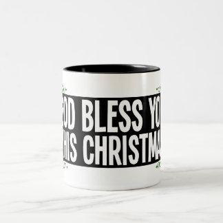 Dieu vous bénissent ce Noël Tasse