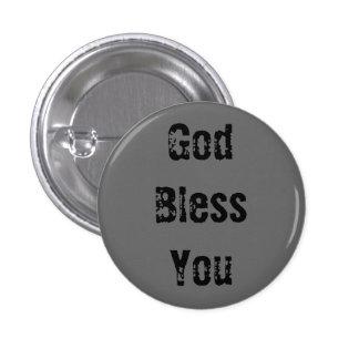 Dieu vous bénissent - customisé - customisés macaron rond 2,50 cm
