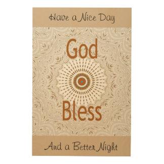 Dieu vous bénissent impression sur bois