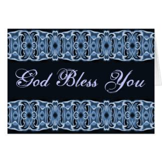 Dieu vous bénissent noir bleu cartes