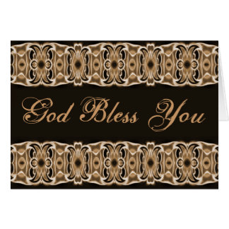 Dieu vous bénissent noir brun carte de vœux