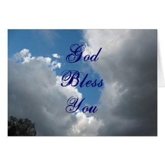 Dieu vous bénissent opacifie carte de vœux