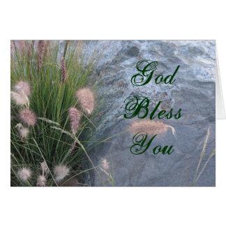 Dieu vous bénissent photo de plage carte de vœux