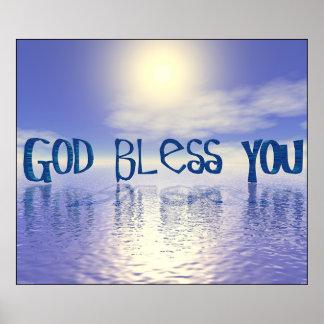 Dieu vous bénissent poster