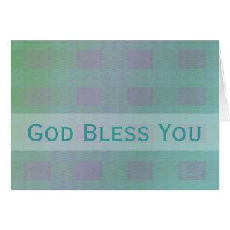 Dieu vous bénissent sarcelle d'hiver en pastel cartes de vœux