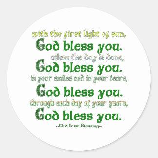 Dieu vous bénissent sticker rond