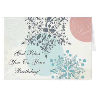 Dieu vous bénissent sur votre anniversaire, bible carte de vœux