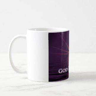 Dieu vous bénissent tasse de café