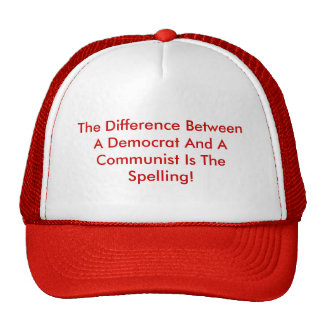 Difference Between A Democrat And A Communist Mesh Hat