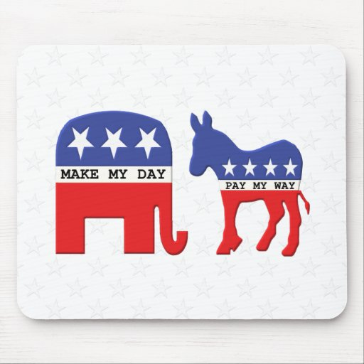 Difference Between Republicans and Democrats Funny Mouse Pads