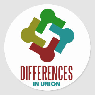 differences in union classic round sticker