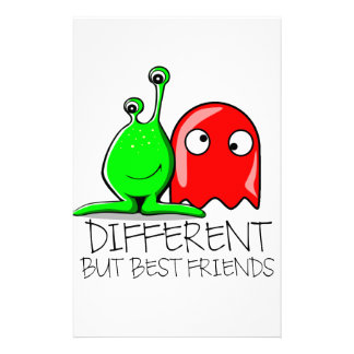 DIFFERENT BUT BEST FRIENDS CUSTOM STATIONERY