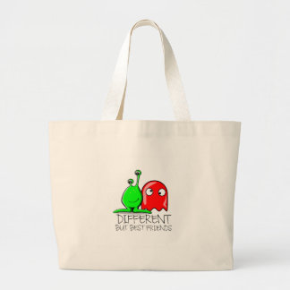 DIFFERENT BUT BEST FRIENDS LARGE TOTE BAG