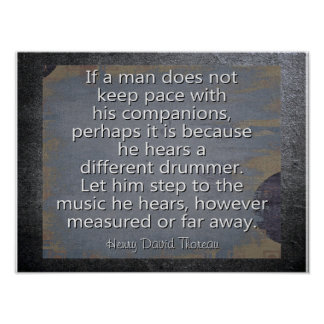 Different Drummer --- Thoreau Quote - Art Print