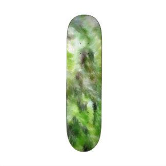 Different green pattern skate deck