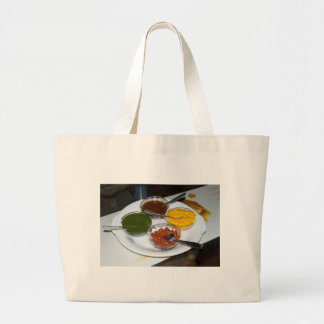 Different Indian spices in bowls Tote Bags