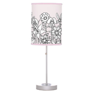Different is Beautiful Floral Lamp